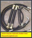 Manguito de goma flexible espiral de la manguera del petróleo hidráulico