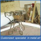 工場製造の銀製灰色のコラムのステンレス鋼表の家具