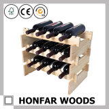 木製のキャビネット25のびんのワインの陳列台のワインラック