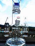 Hb-K55 de Rokende Waterpijp van het Glas van de Vorm van de Raket van Percolotor van de Boom van het wapen