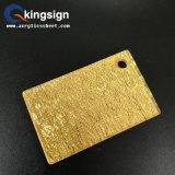 Hoja Glittering de acrílico de la tela de oro