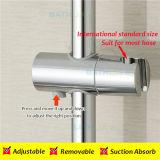 Barre coulissante de douche d'acier inoxydable avec l'étagère de support de douche de cuvette d'aspiration