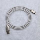 1m 2A 금속 Samsung와 IPhone를 위한 땋는 V-8 마이크로 데이터 충전기 USB 케이블