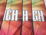 Рекламировать глянцеватые знамена ткани полиэфира полного цвета