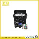 4PCS * 12W 6in1 RGBWA + UV شحن البطارية وواي فاي LED PAR