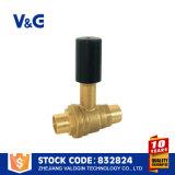 Vávula de bola de cobre amarillo sanitaria de la alta calidad (VG-A41101)