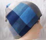 羊毛の内部(1-2543)が付いている点検されたパターンによって編まれる帽子の暖かい帽子