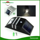 Lumière solaire de voie de lampe d'éclairage de produits d'acier inoxydable de mur de la lumière PIR de mouvement de détecteur de jardin de lumière solaire durable extérieure de garantie
