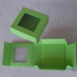 Pequeño rectángulo de papel plegable al por mayor de la alta calidad con el accesorio de la cinta