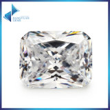 Russie Cubic Zirconia Brincos Zircon White Octangle Cut CZ Stone