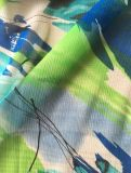 tela Chiffon del Crepe de la impresión 75D para las alineadas de las mujeres
