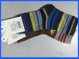 Calcetines ocasionales del algodón suave respirable de la raya de los hombres