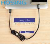 Самый лучший продавая заряжатель передачи данных USB джинсовой ткани для кабеля USB iPhone Samsung