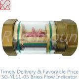 Indicador de cristal transparente del flujo del cobre del cilindro para los líquidos