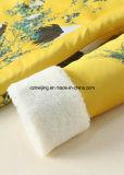 Gelbe Frauen `S Baumwollchinesische Art-Kleid