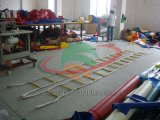 Aufblasbare Jacobs Strichleiter-Spiel-Gebrauch-Rahmen und Seil-Strichleiter
