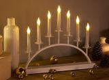 Decoración caliente del blanco LED del puente del metal de la vela