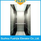 Levage luxueux de passager de Fushijia avec l'acier inoxydable de miroir (FSJ-K24)