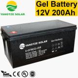 2017 precio caliente de la batería 12V 200ah del gel del panel solar de la venta