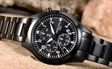 O relógio de quartzo dos homens presta atenção do pulso de disparo masculino luxuoso superior do tipo dos relógios de Mens de Relogio Masculino dos homens a relógios de pulso piloto militares