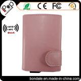 기능을 막는 RFID를 가진 다채로운 여자 PU 지갑 카드 프로텍터