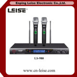 Ls 980 직업적인 Karaoke 마이크 이중 채널 UHF 무선 마이크