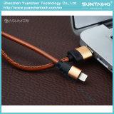 2017 USB2.0 jeûnent câble en cuir de remplissage de foudre pour iPhone5 5s 6 6s 7