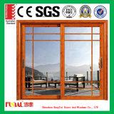 Portes en verre intérieures/porte coulissante en aluminium porte de cuisine