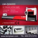 Máquina de estaca precisa elevada do laser da fibra da câmara de ar de Lamy