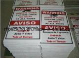 Las muestras/corte de la prohibición mueren el material plástico de /Printing/Four Sockets/PP/señales de peligro amarillas impermeables con la impresión