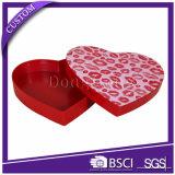 Rígida en forma de corazón del favor de la boda del arte del caramelo de las cajas de regalo