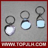 Trousseau de clés fait sur commande de blanc de sublimation en métal de marque de logo