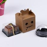 명확한 플라스틱 PVC Windows를 가진 컵케이크 또는 케이크 상자 컵케이크 상자를 위한 백지 상자