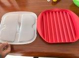 すぐにそしてきれいのマイクロウェーブのプラスチックSilconeのマイクロウェーブベーコンの炊事道具鍋かコックのベーコン