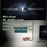 K&S Aluminiumtyp-cc$c PROnaben-Adapter für MacBook, USB 3.1 Gen1 10GB, 4k HDMI, die Durchgang-Aufladung, Gigabit-Ethernet-Schalter und 2 Kanäle USB-3.0