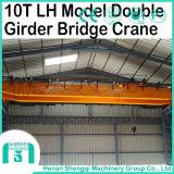 Tipo de la LH grúa de arriba de la viga del doble de 10 toneladas