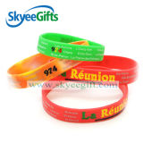 Projeto personalizado Debossed/bracelete impresso do silicone