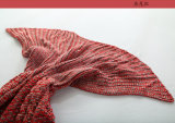 Cobertor feito malha da cauda dos peixes do cobertor da cauda da sereia do saco de sono da Mar-Empregada doméstica