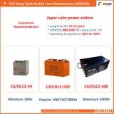 Batterie de gel de Cg12-200 Cspower avec 3years la garantie de bonne qualité 12V 200ah
