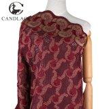 Merletto nuziale svizzero del merletto di immaginazione di colore rosso di vino