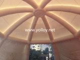 tienda inflable transparente de la bóveda de la araña del claro del diámetro del 17m