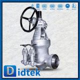 Valvola a saracinesca saldata estremità di esclusione del doppio del dispositivo di tenuta a pressione di Didtek WC9