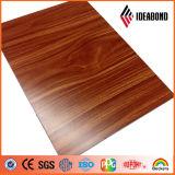 Panneau composite en aluminium de finition en bois extérieur de 3 mm à 6 mm (AE-306)