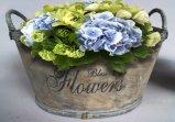 金属によって着色される楕円形の合板の植木鉢