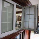 プラスチックUPVCの開き窓のLowesのWindowsの格子の内部の入り口の開き窓の窓ガラス