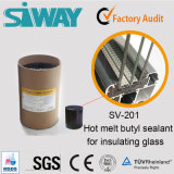 Vedador butílico do derretimento quente de Siway para o selo de vidro de isolamento dobro de Windows