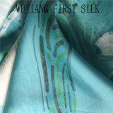Tela de seda impressa do Twill, tela do Twill da seda de 100% com cópia de Digitas. Tela de seda do Twill da cópia de Digitas