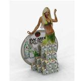 Voyageur debout de carton, présentoir d'affiche de carton, étalages de film de carton ondulé de Cutomized
