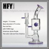 La LIMANDA di vetro viola dell'impianto offshore dei tubi di acqua della vasca di gorgogliamento del tubo di vetro viola bipolare Stemless di vetro del getto di Toro attrezza il favo dei tubi di acqua