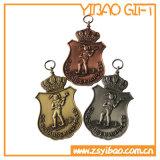 Venta caliente de encargo de aleación de zinc metal medallas (YB-m-012)